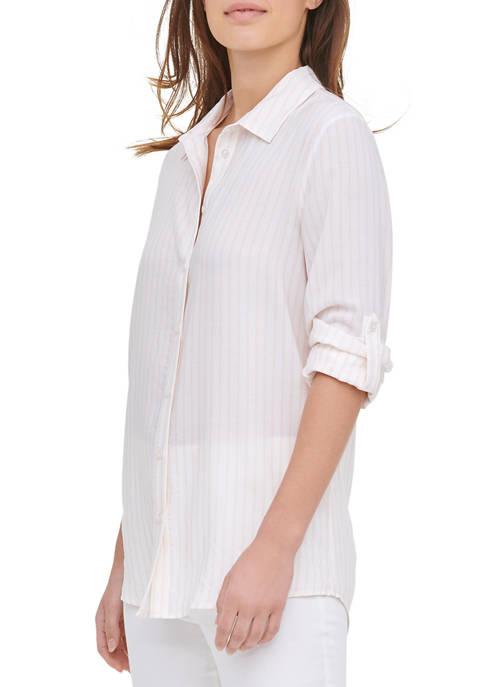 Calvin Klein Womens Roll Sleeve Tunic