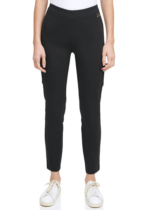 Calvin Klein Compression Leggings with Cargo Pockets