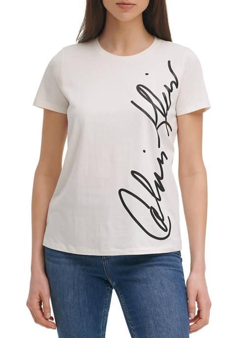 Calvin Klein Short Sleeve Logo Graphic T-Shirt