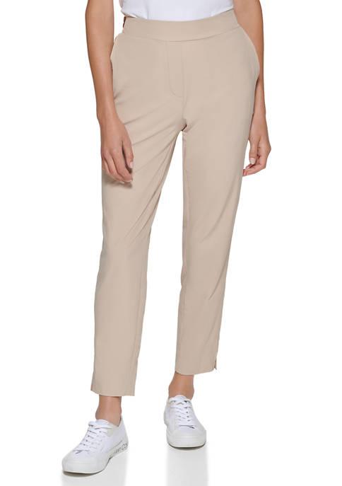 Calvin Klein Flat Front Elastic Pants