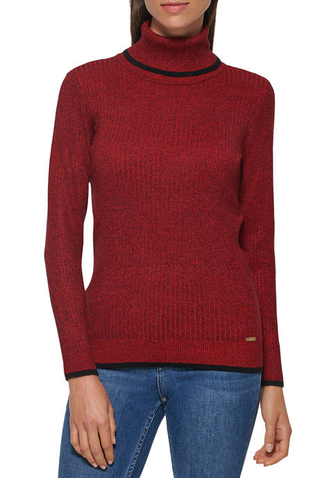 Calvin Klein Marled Rib Turtleneck Sweater