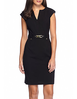 3807d41a33a Calvin Klein. Calvin Klein Gold Buckle Sheath Dress