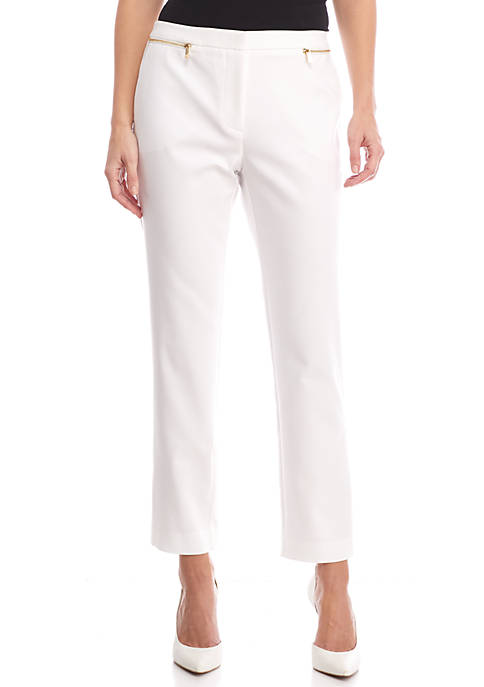 Calvin Klein Ankle Pant With Zips