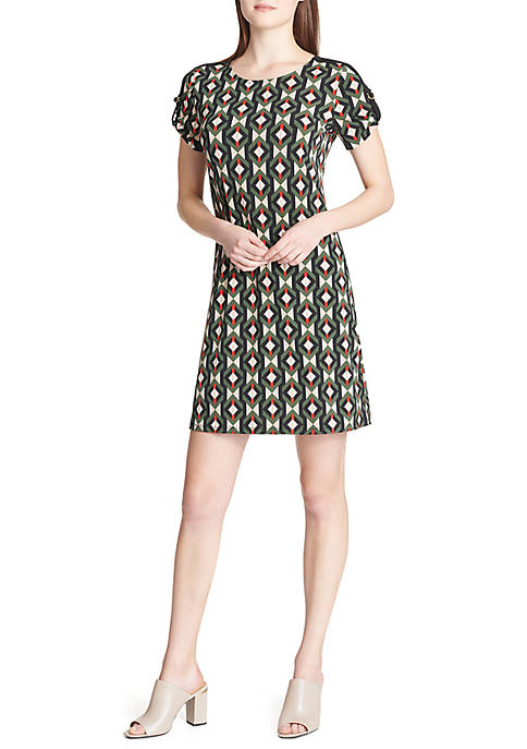 Calvin Klein Short Sleeve Dress With D-Ring