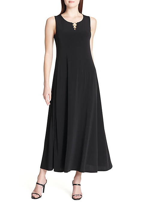 Calvin Klein Sleeveless Maxi Dress With Circle Hardware