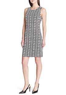 2-Tone Jacquard Dress