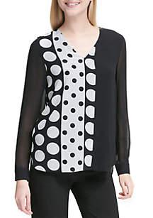 Dot Printed Tunic Top