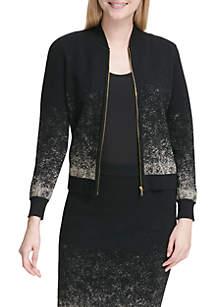 Gold Speckled Sweater Jacket