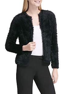 Furry Long Cardigan