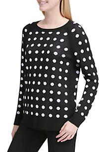 Long Sleeve Dot Sweater