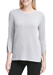 Bell Sleeves Crew Neck Sweater