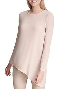 Calvin Klein Asymmetrical Lurex Knit Top
