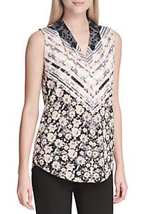 Sleeveless Printed Knit Top