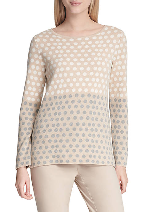 Calvin Klein Dot Jacquard Sweater