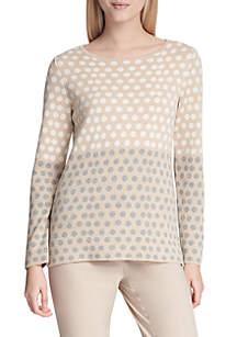 Calvin Klein Dot Jacquard Sweater