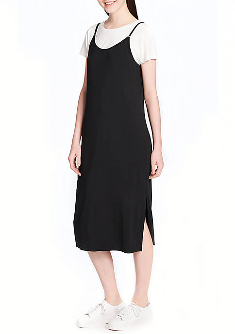 Calvin Klein Skinny Strap Dress with Tee