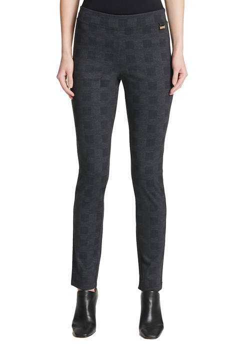 Womens Glenplaid Ponte Leggings