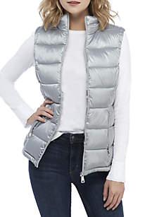 Metallic Quilted Vest