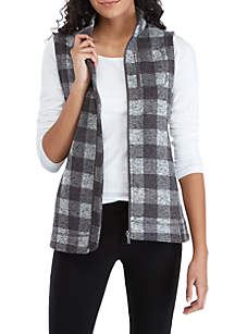 Calvin Klein Plaid Zip Vest
