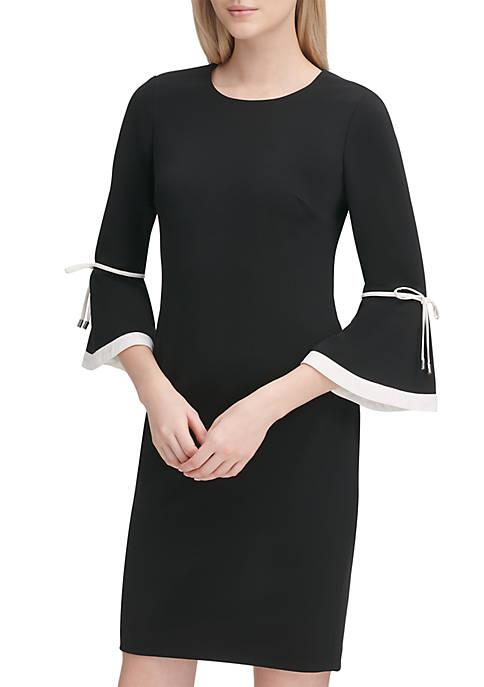 Calvin Klein Flare Sleeve Scuba Dress