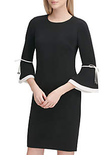 064ee403d7 ... Calvin Klein Flare Sleeve Scuba Dress