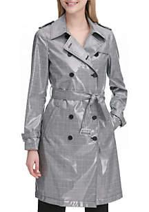 Calvin Klein Glen Plaid Trench Coat