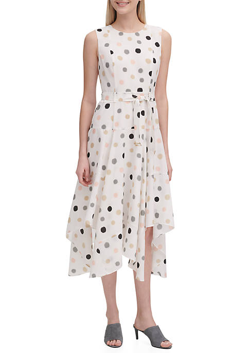 d0b02bd104f12 Calvin Klein Floral Handkerchief Dress
