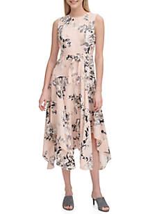 Calvin Klein Floral Handkerchief Dress