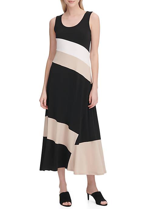 Color Block Knit Tank Dress