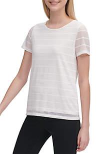 0db3fd5824353 ... Calvin Klein Shadow Stripe Crew Neck T Shirt