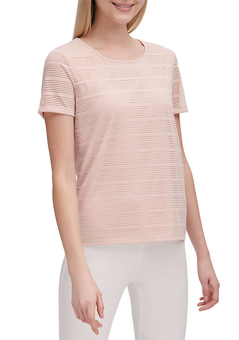 Calvin Klein Shadow Stripe Crew Neck T Shirt