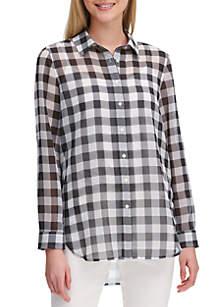 Calvin Klein Gingham Boyfriend Shirt