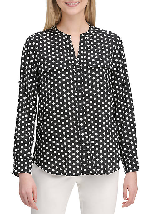 Calvin Klein Polka Dot Button Up Shirt