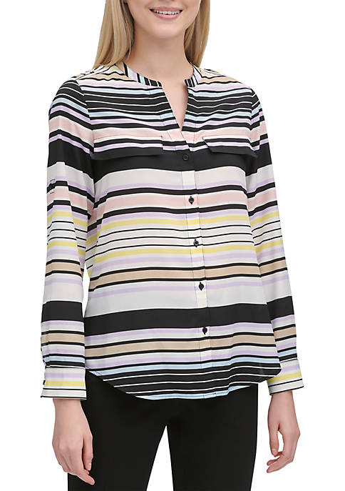 Calvin Klein Stripe Button Front Shirt