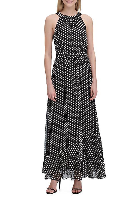 Calvin Klein Grid Halter Dress