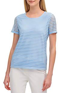 Calvin Klein Sheer Stripe T Shirt
