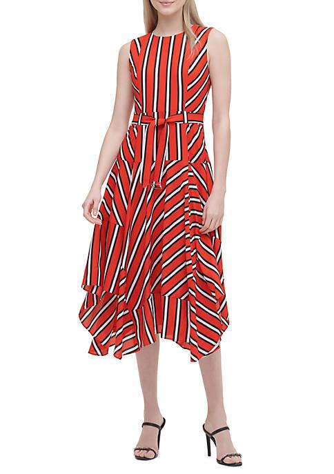 Print Hanky Hem Dress