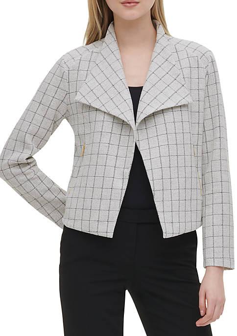 Calvin Klein Grid Jacquard Flyaway Jacket