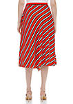 Striped Ruffle Front Skirt