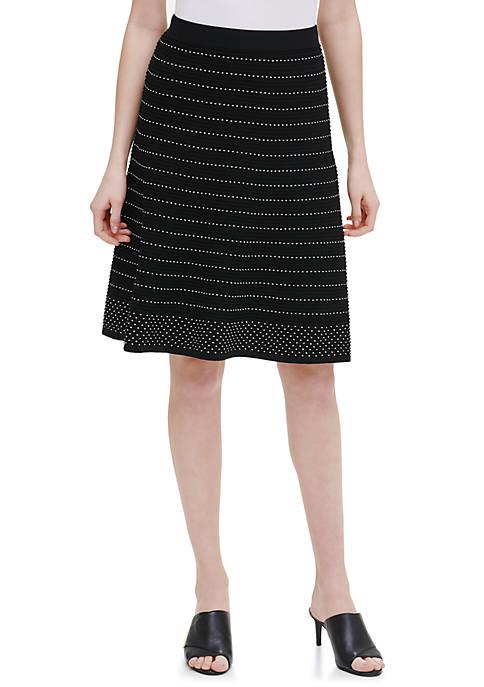 Calvin Klein Contrast Stitch Sweater Skirt