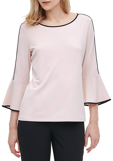 Calvin Klein Bell Sleeve Knit Top