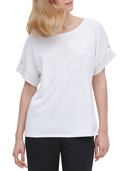 Calvin Klein Short Sleeve Knit Top
