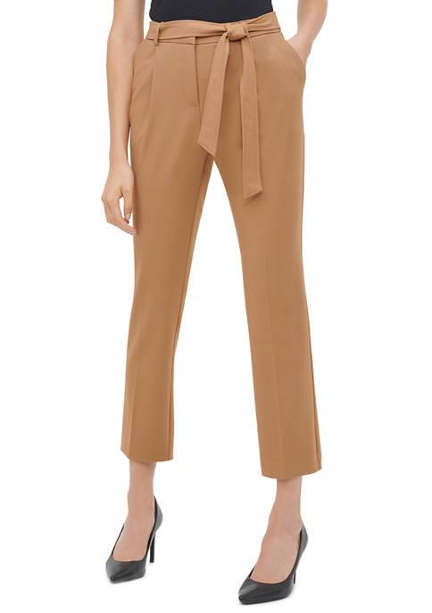 Calvin Klein Womens Tie Belted Pants