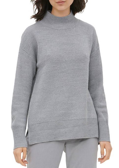 Calvin Klein Womens Long Sleeve Mock Neck Sweater
