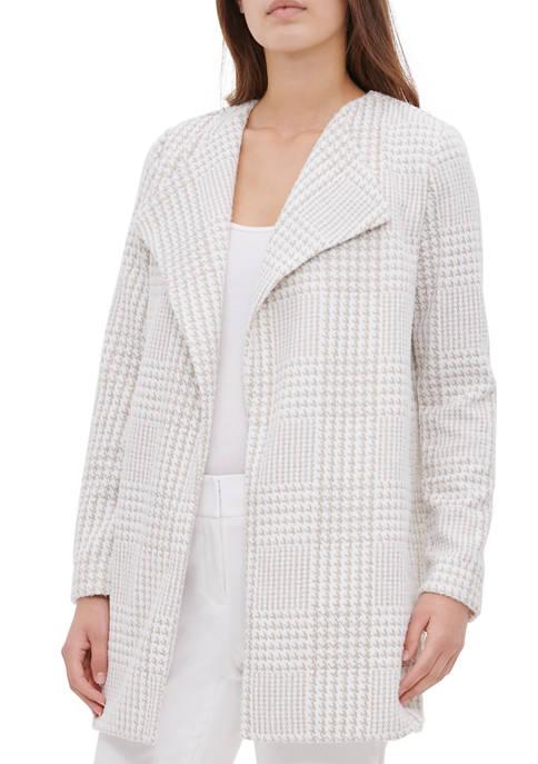 Womens Houndstooth Flyaway Jacket