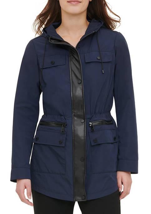 Calvin Klein Womens Hooded Anorak Jacket