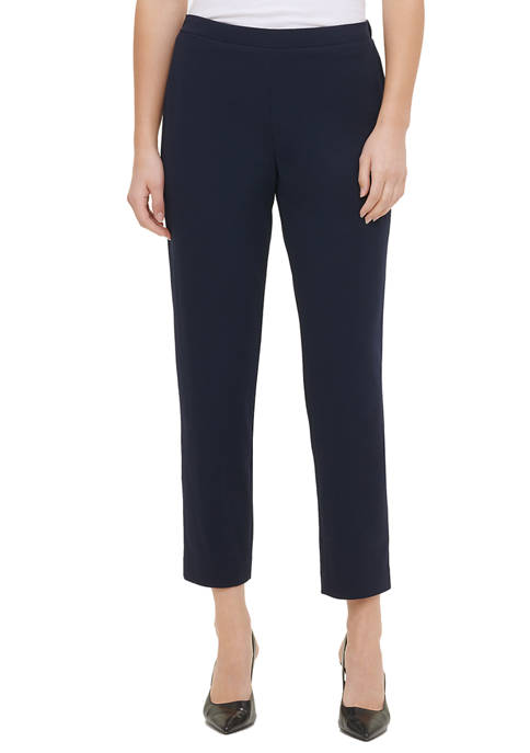 Calvin Klein Womens Pull On Straight Leg Scuba