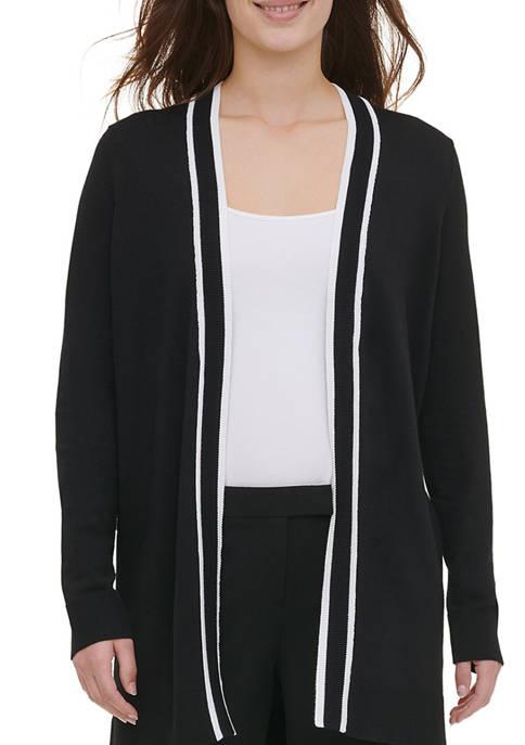 Calvin Klein Womens Long Tipped Cardigan
