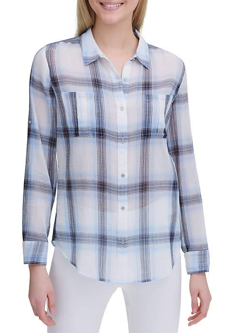 Calvin Klein Plaid Cotton Shirt
