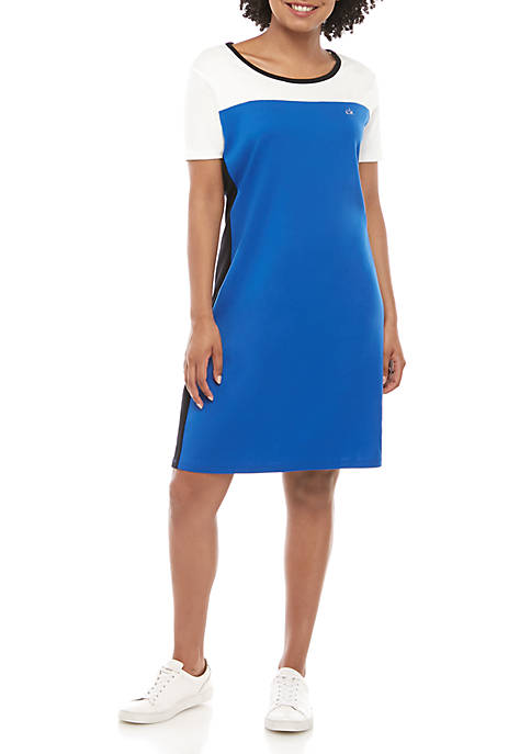 Calvin Klein Color Block Logo T Shirt Dress